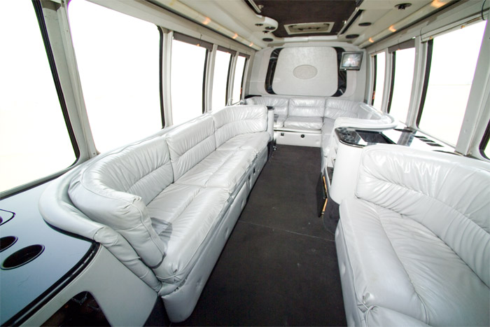 Luxury Bus Interior Limo bus interiors